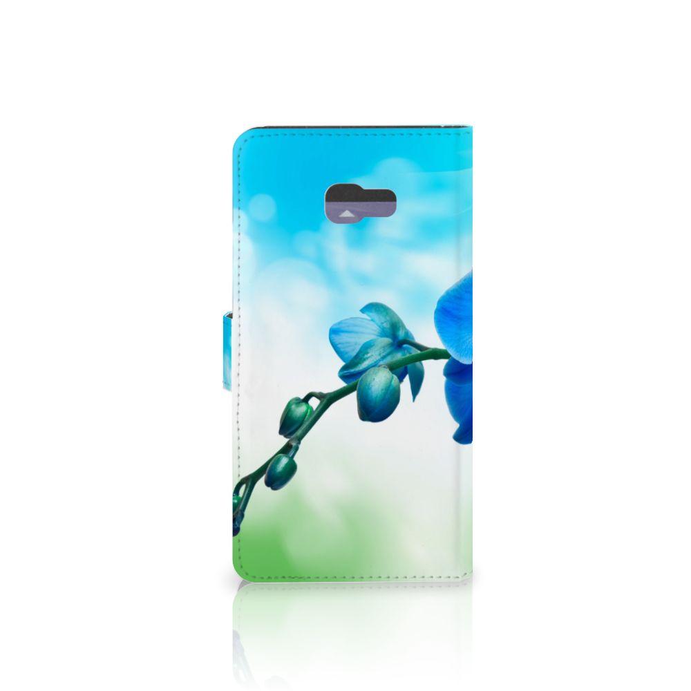 Samsung Galaxy A7 2017 Hoesje Orchidee Blauw