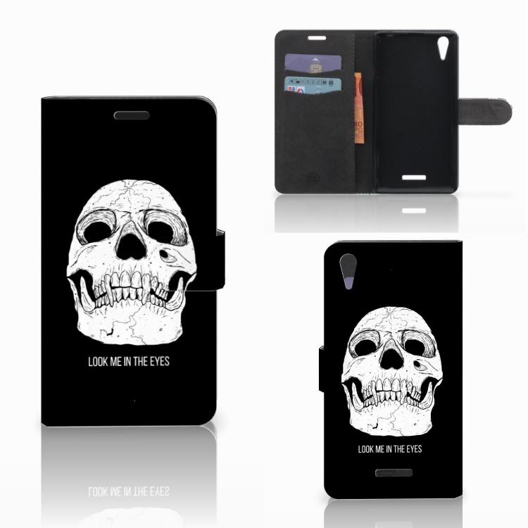 Telefoonhoesje met Naam Sony Xperia T3 Skull Eyes