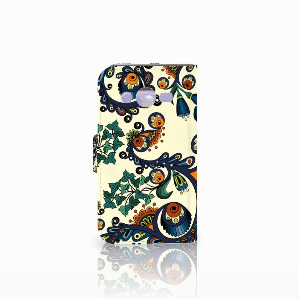 Wallet Case Samsung Galaxy Core 2 Barok Flower