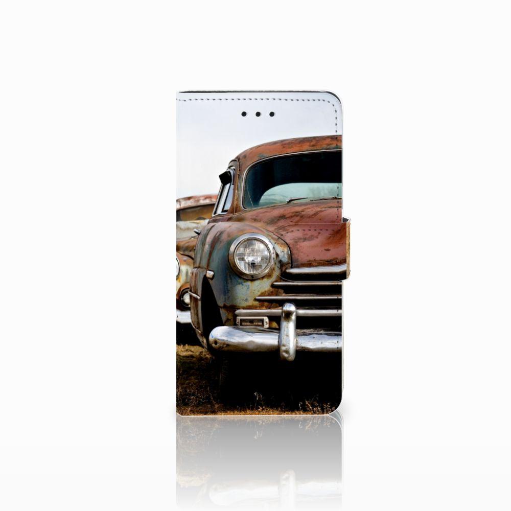 Huawei Y5 2018 Uniek Boekhoesje Vintage Auto