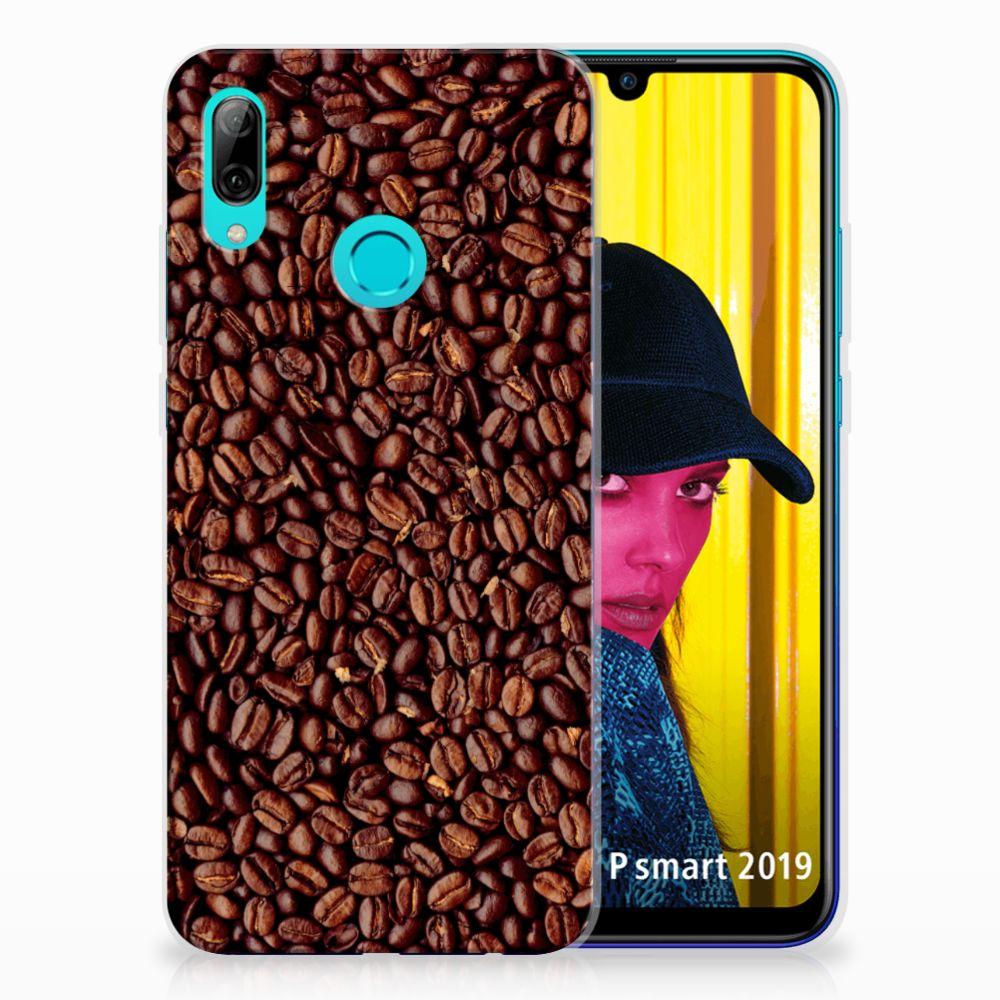 Huawei P Smart 2019 Siliconen Case Koffiebonen
