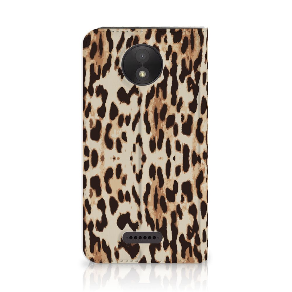 Motorola Moto C Plus Uniek Standcase Hoesje Leopard