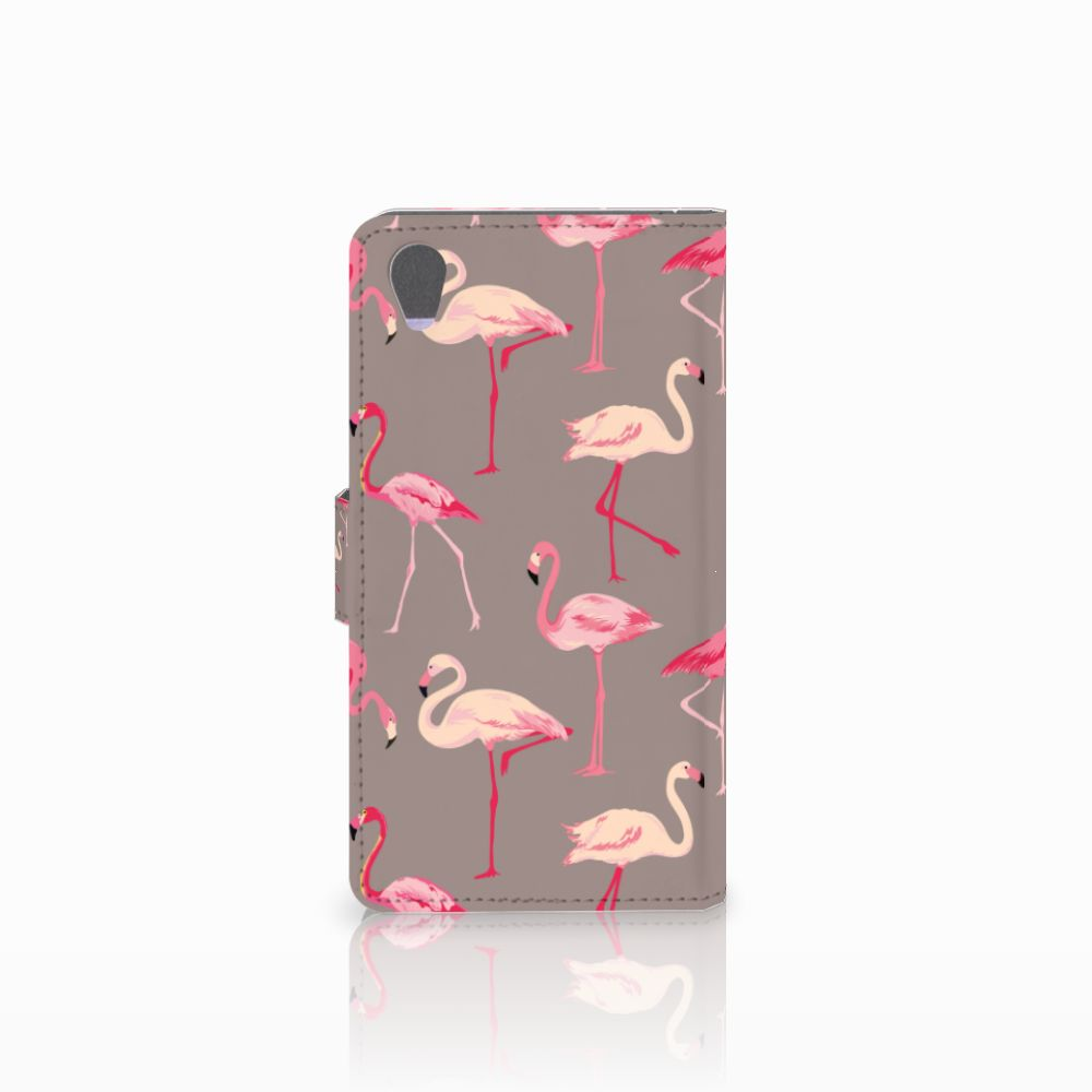 Sony Xperia Z1 Telefoonhoesje met Pasjes Flamingo