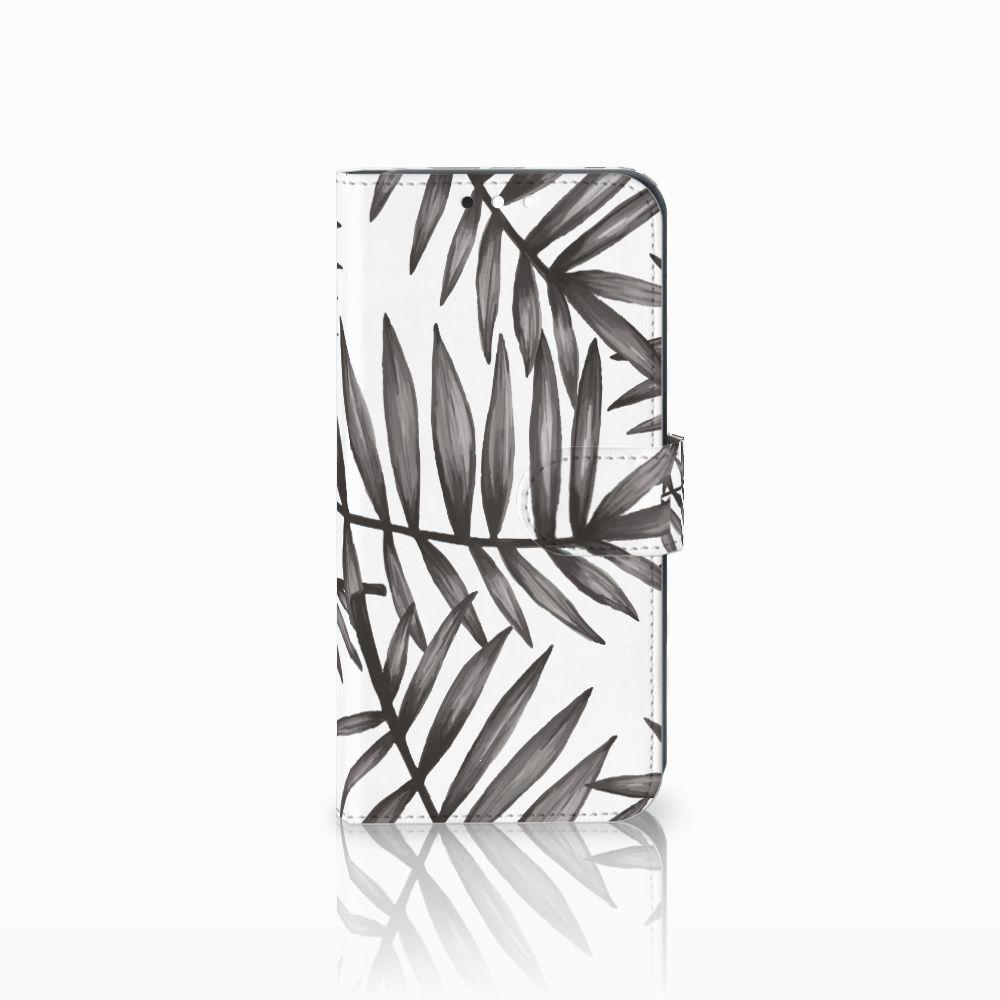 Huawei Mate 10 Lite Uniek Boekhoesje Leaves Grey