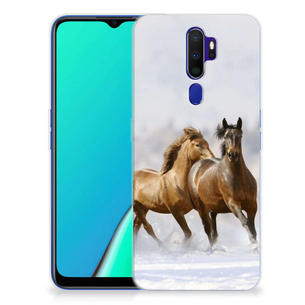 OPPO A5 2020 TPU Hoesje Paarden