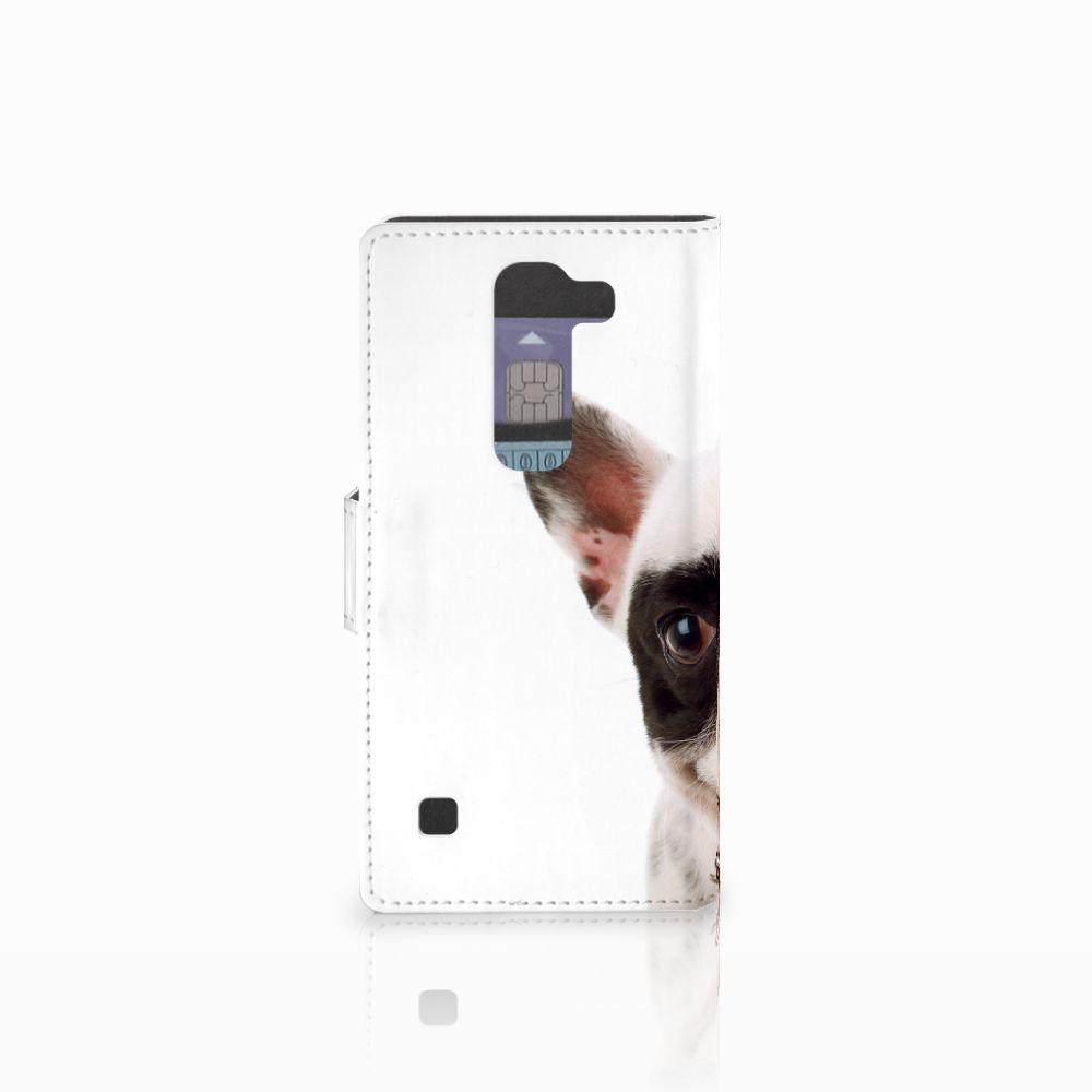 LG Spirit Telefoonhoesje met Pasjes Franse Bulldog