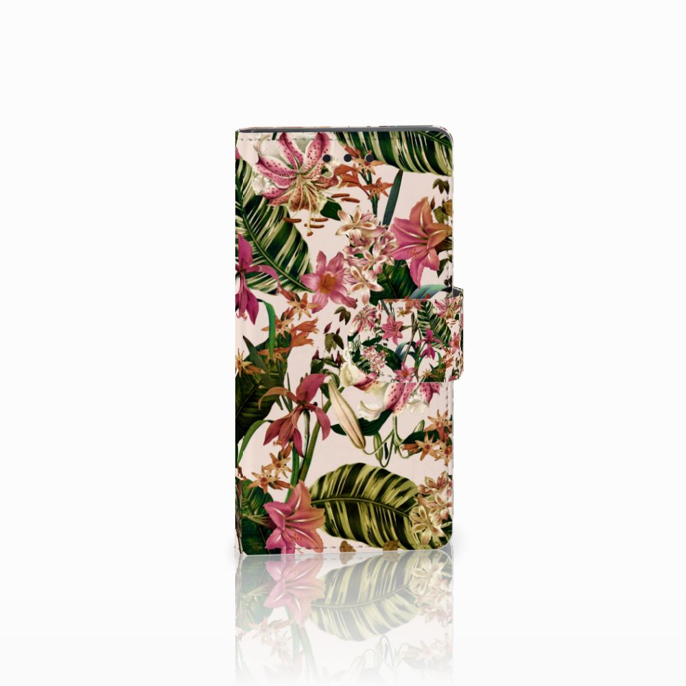 Sony Xperia Z5 Compact Uniek Boekhoesje Flowers