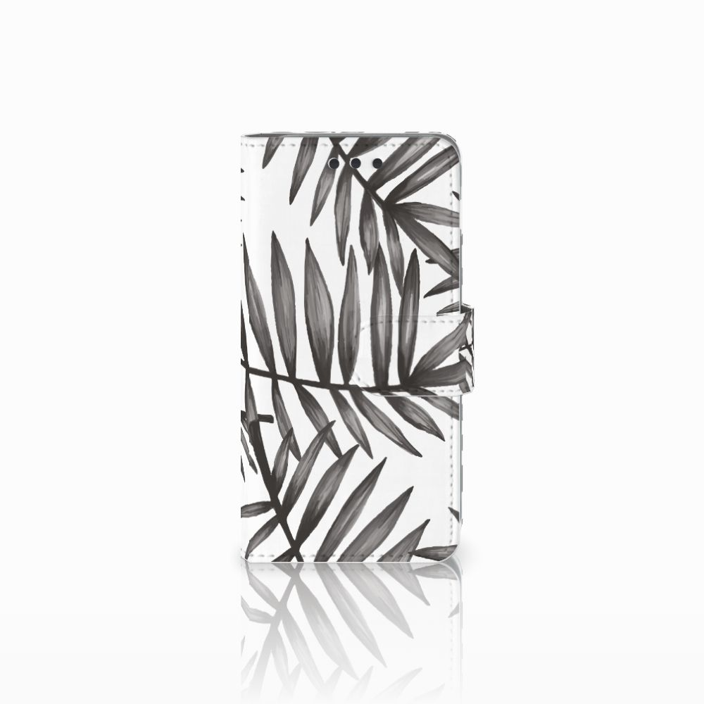 Samsung Galaxy A3 2016 Uniek Boekhoesje Leaves Grey