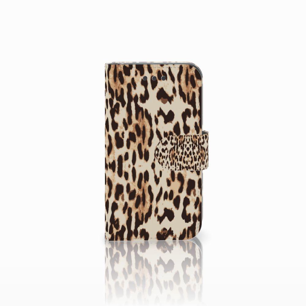 Samsung Galaxy Core 2 Uniek Boekhoesje Leopard