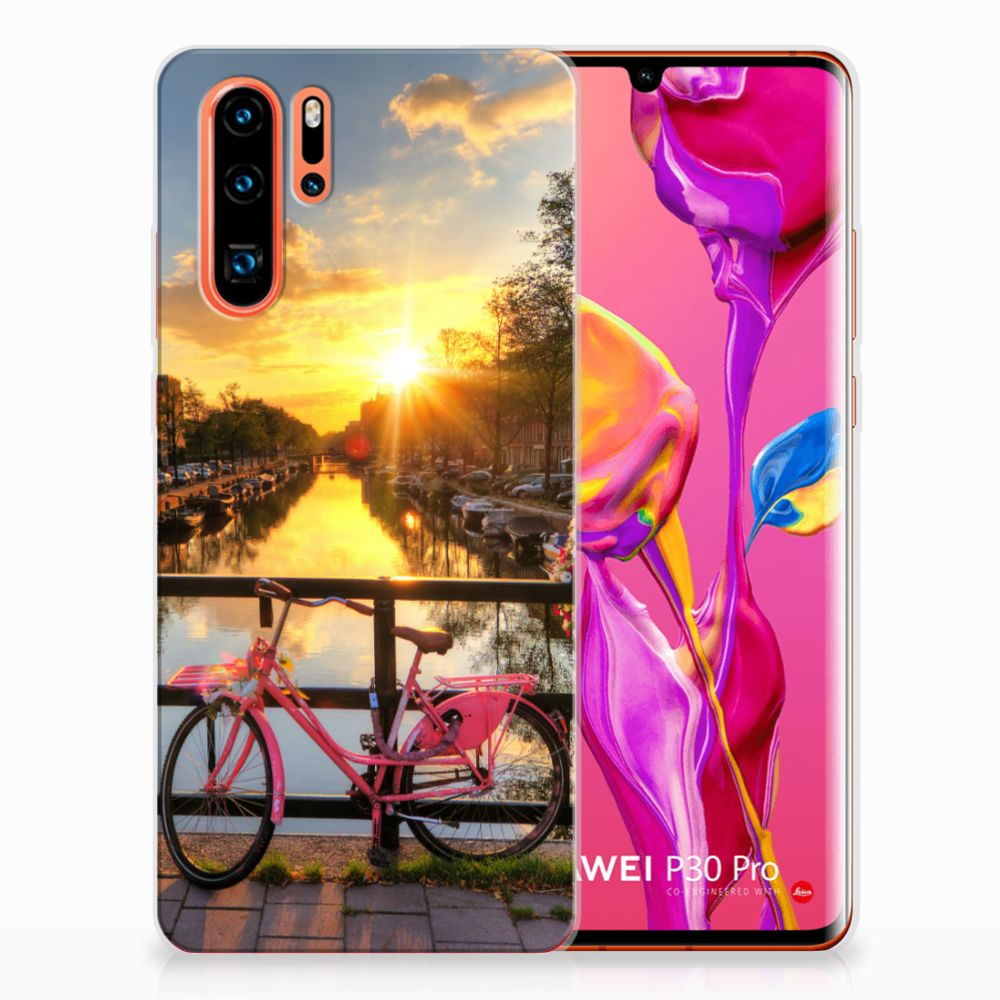 Huawei P30 Pro Siliconen Back Cover Amsterdamse Grachten