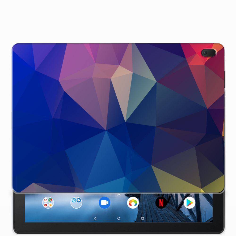 Lenovo Tab E10 Back Cover Polygon Dark