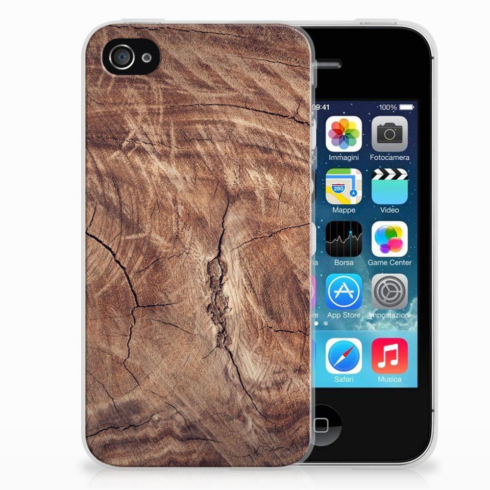 Apple iPhone 4 | 4s TPU Hoesje Design Tree Trunk