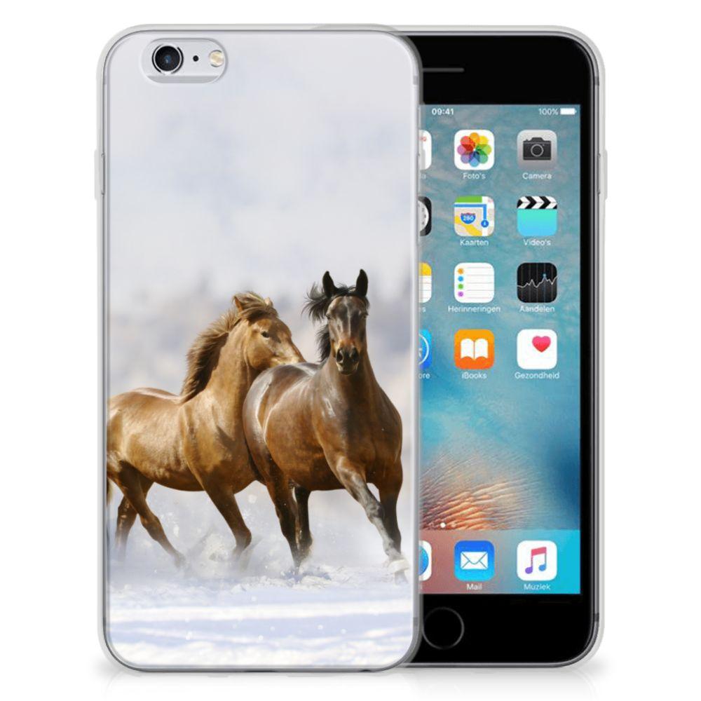 Apple iPhone 6 | 6s Uniek TPU Hoesje Paarden