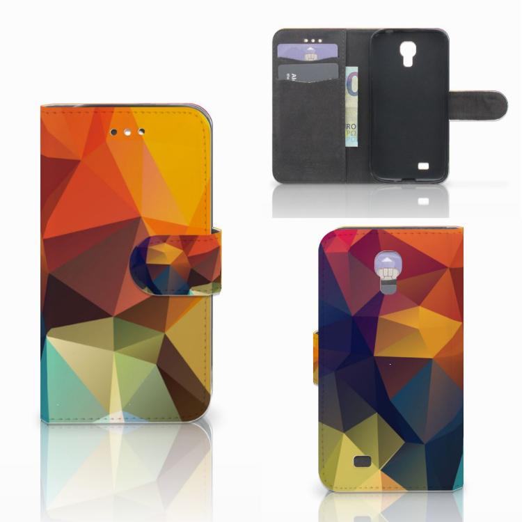 Samsung Galaxy S4 Bookcase Polygon Color