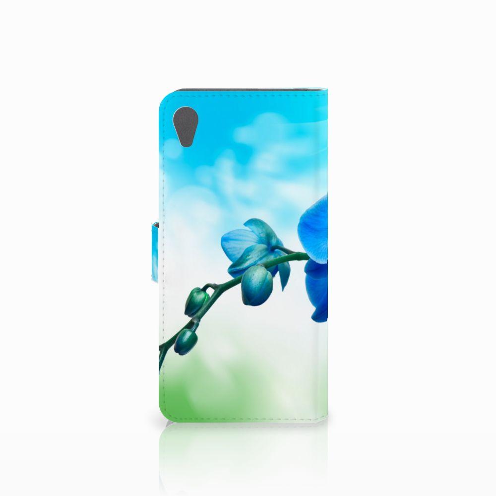 Sony Xperia Z5 Premium Hoesje Orchidee Blauw