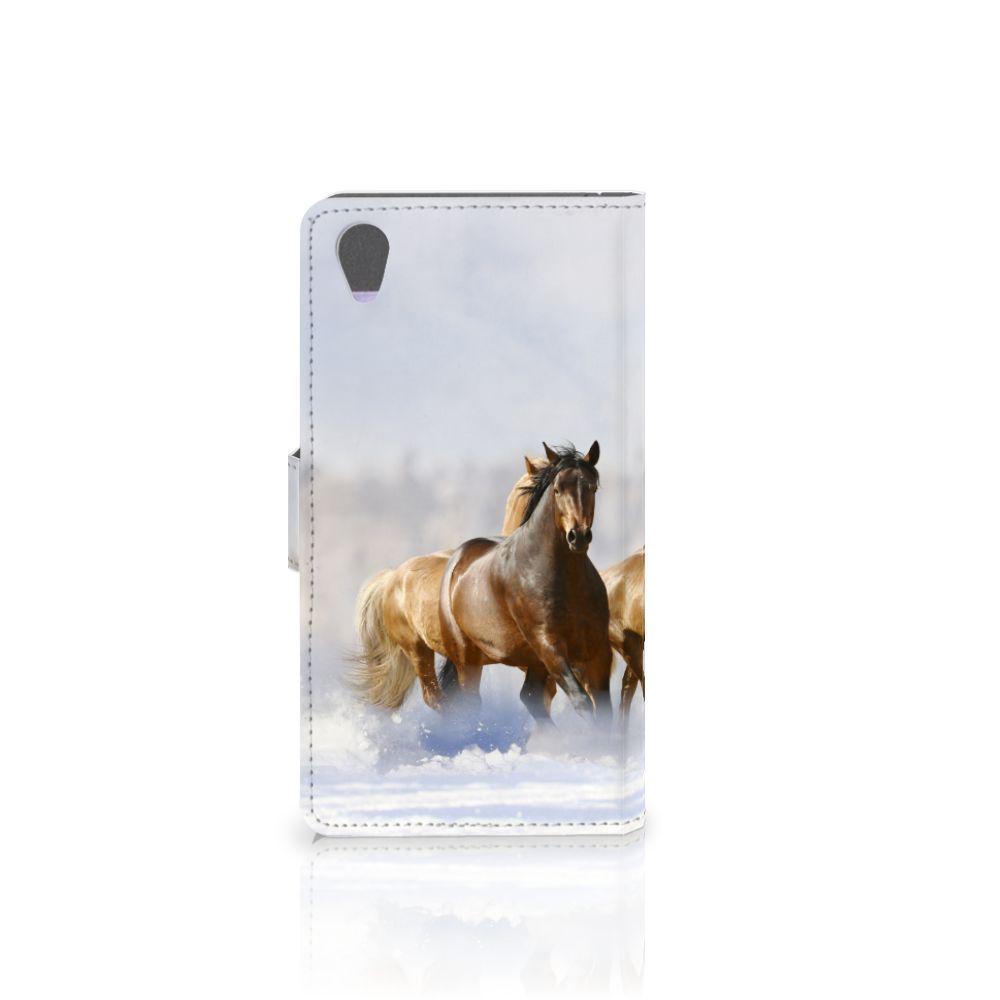 Sony Xperia Z1 Telefoonhoesje met Pasjes Paarden