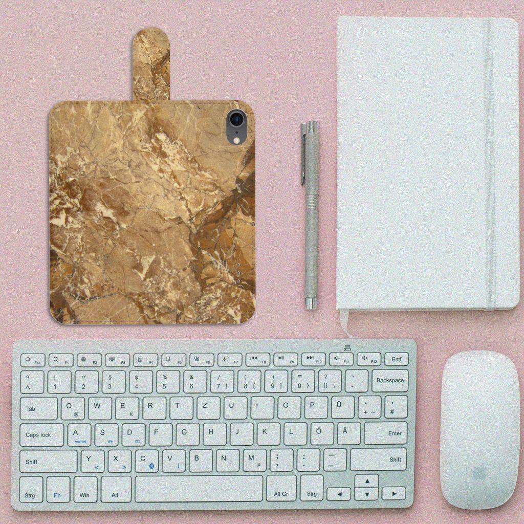 iPhone 7   8   SE (2020) Bookcase Marmer Creme