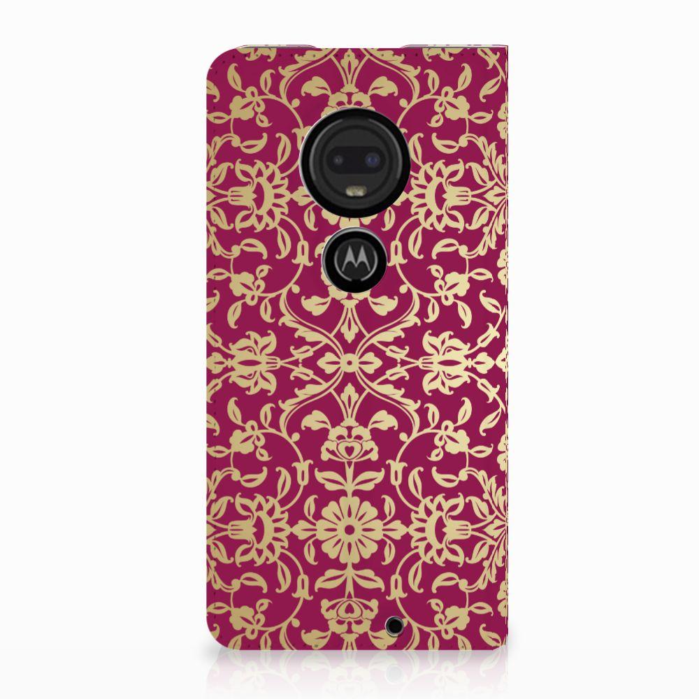 Motorola Moto G7 | G7 Plus Standcase Hoesje Design Barok Pink