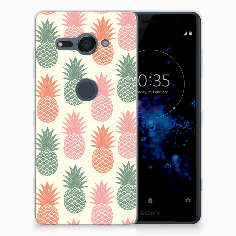 Sony Xperia XZ2 Compact Siliconen Case Ananas