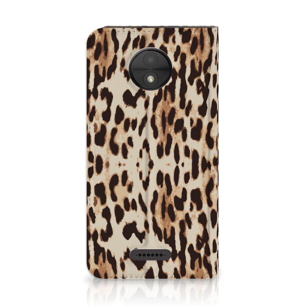 Motorola Moto C Uniek Standcase Hoesje Leopard