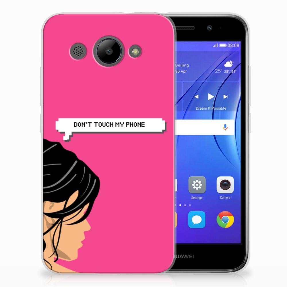 Huawei Y3 2017 Uniek TPU Hoesje Woman DTMP