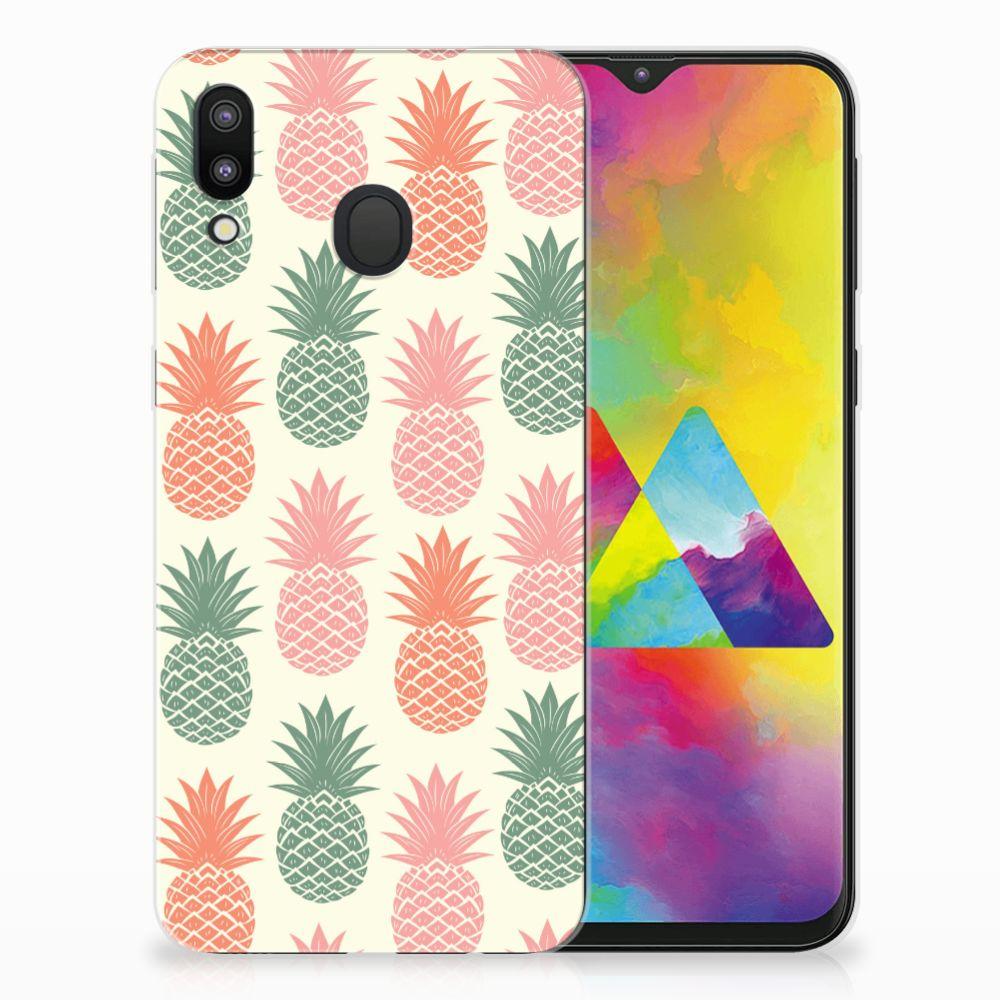 Samsung Galaxy M20 (Power) Siliconen Case Ananas
