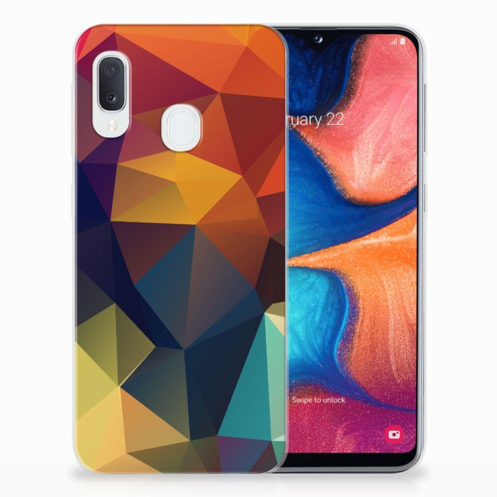 Samsung Galaxy A20e TPU Hoesje Polygon Color