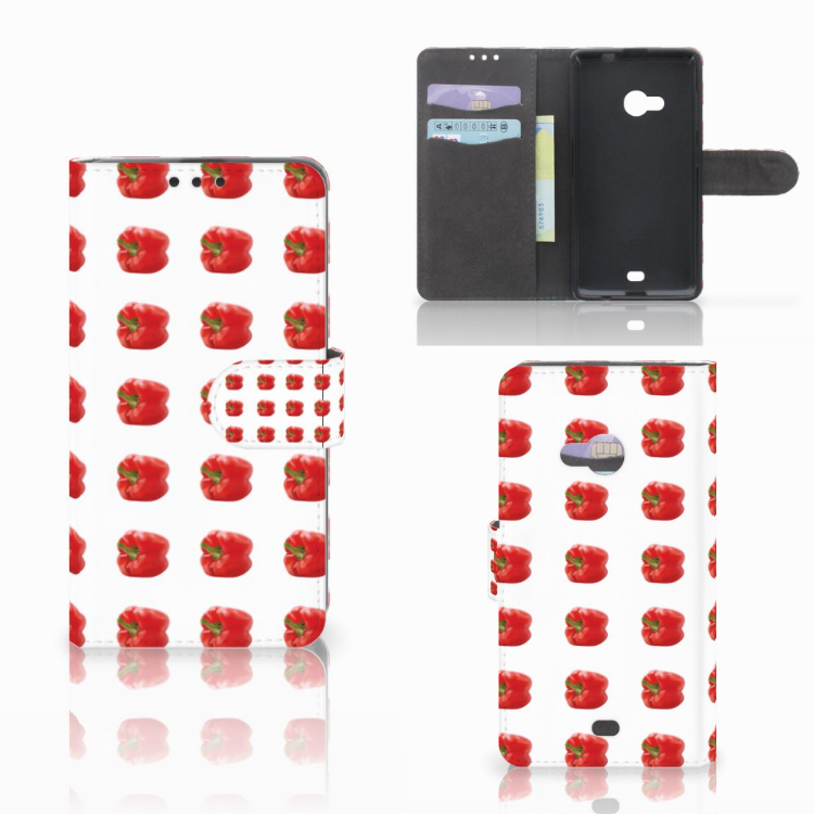 Microsoft Lumia 535 Book Cover Paprika Red