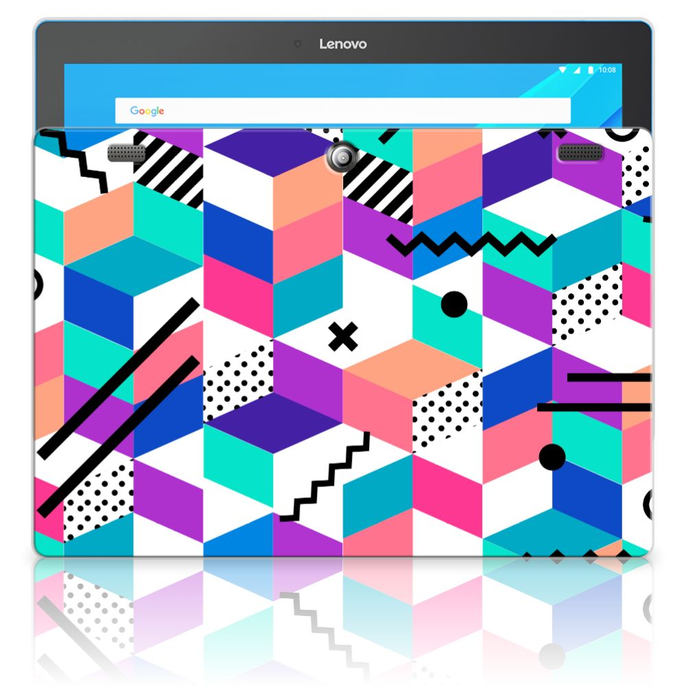 Lenovo Tab 10 | Tab 2 A10-30 Back Cover Blokken Kleurrijk