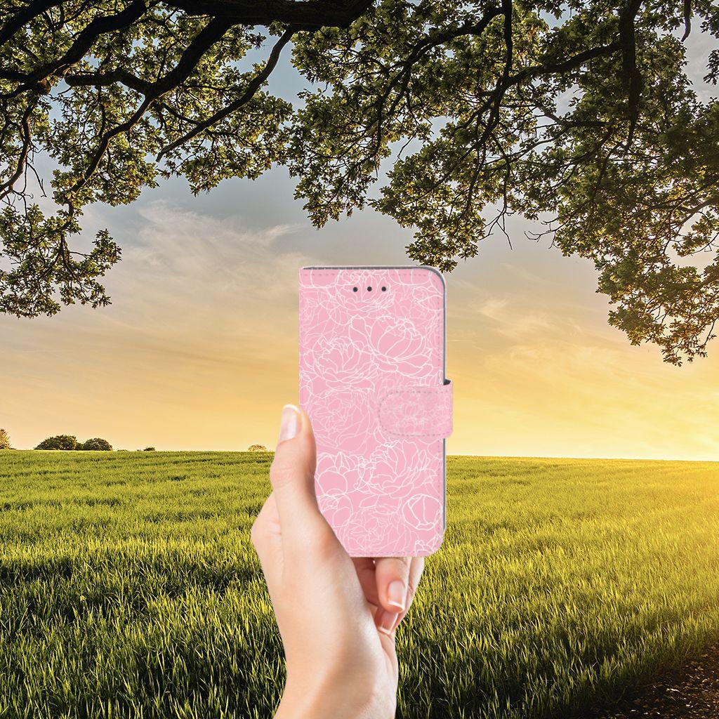 Samsung Galaxy J3 2016 Hoesje White Flowers