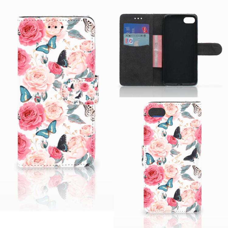 Huawei Y5 2018 Hoesje Butterfly Roses