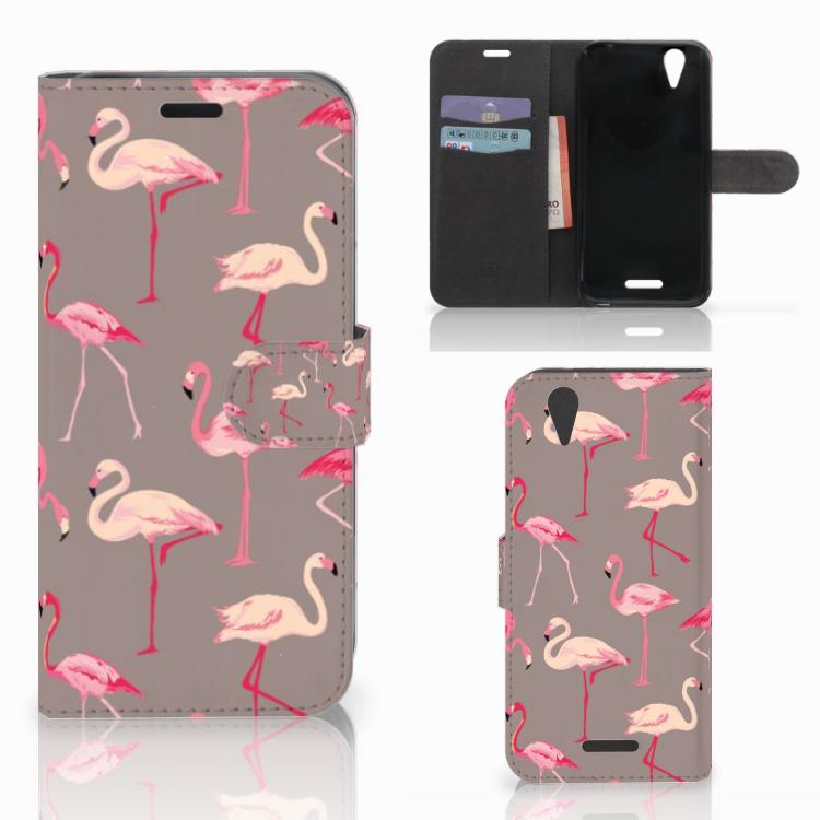 Acer Liquid Z630 | Z630s Telefoonhoesje met Pasjes Flamingo