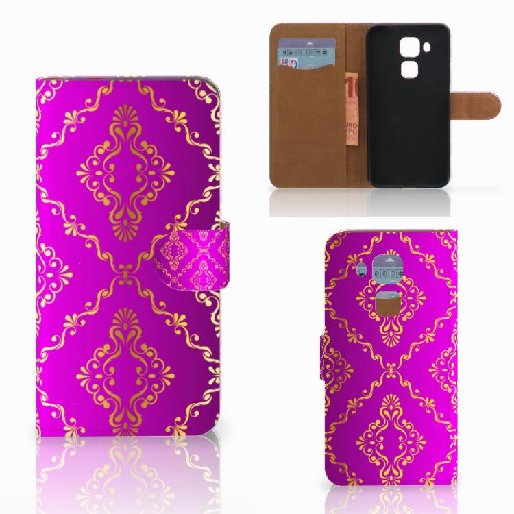 Wallet Case Huawei Nova Plus Barok Roze