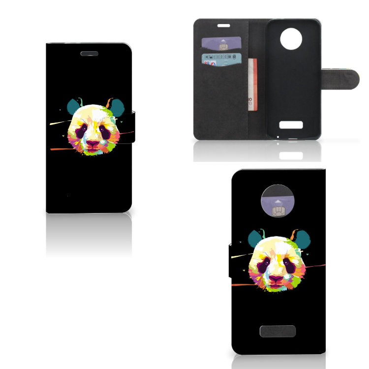 Motorola Moto Z Leuk Hoesje Panda Color