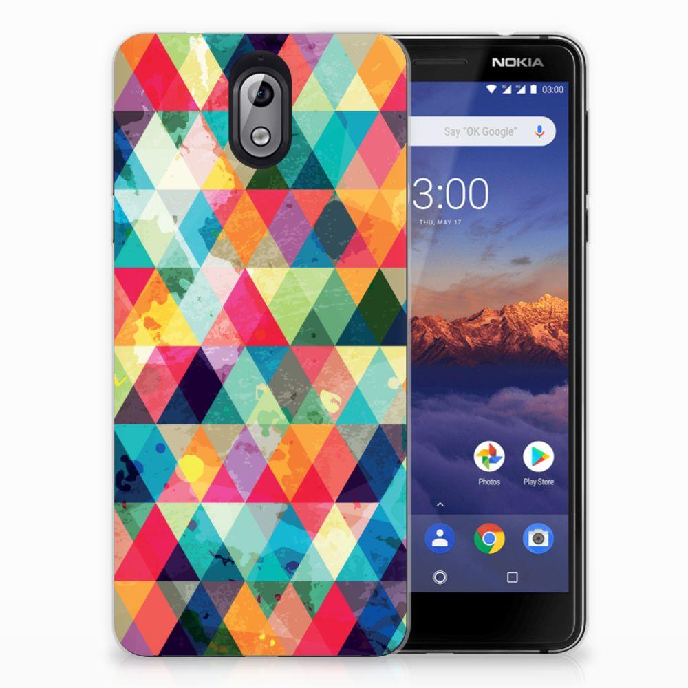 Nokia 3.1 (2018) TPU bumper Geruit