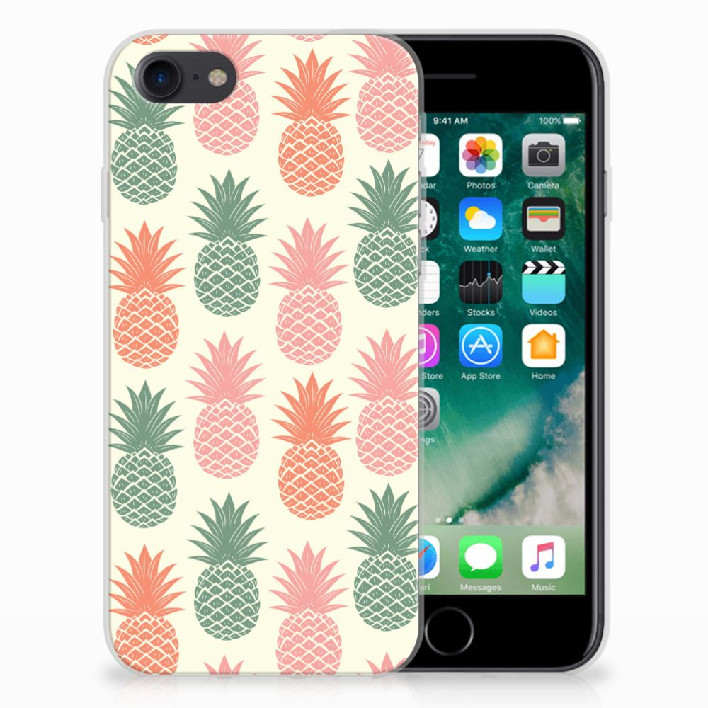 Apple iPhone 7 | 8 Siliconen Case Ananas