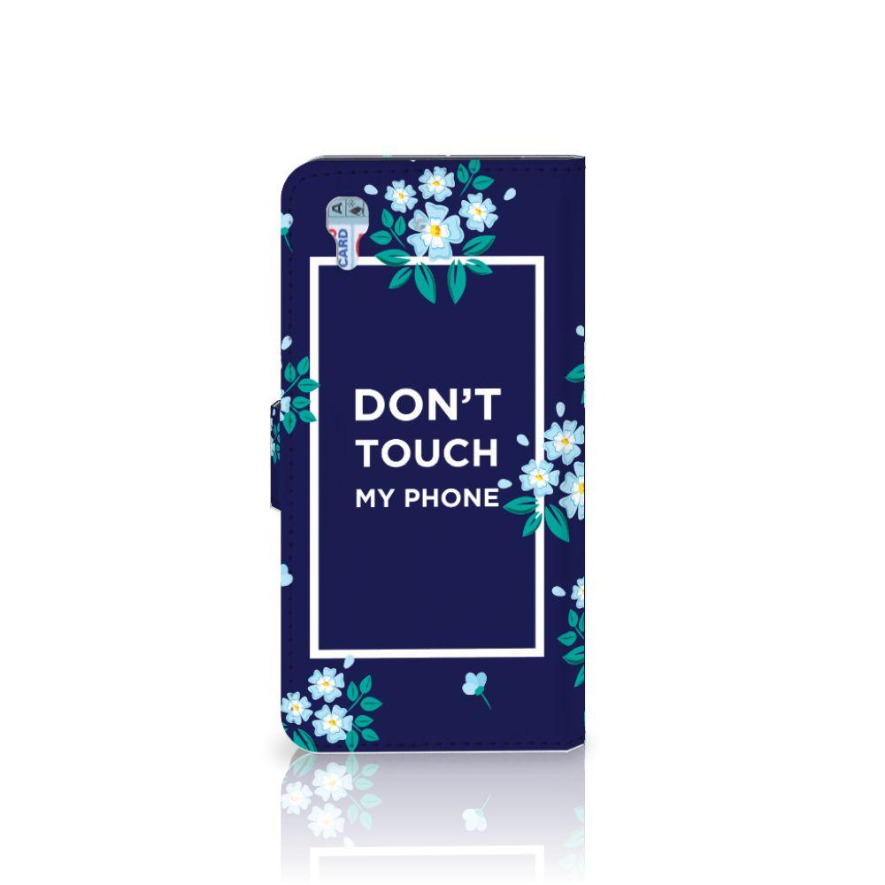Honor 4A | Y6 Portemonnee hoesje Flowers Blue DTMP