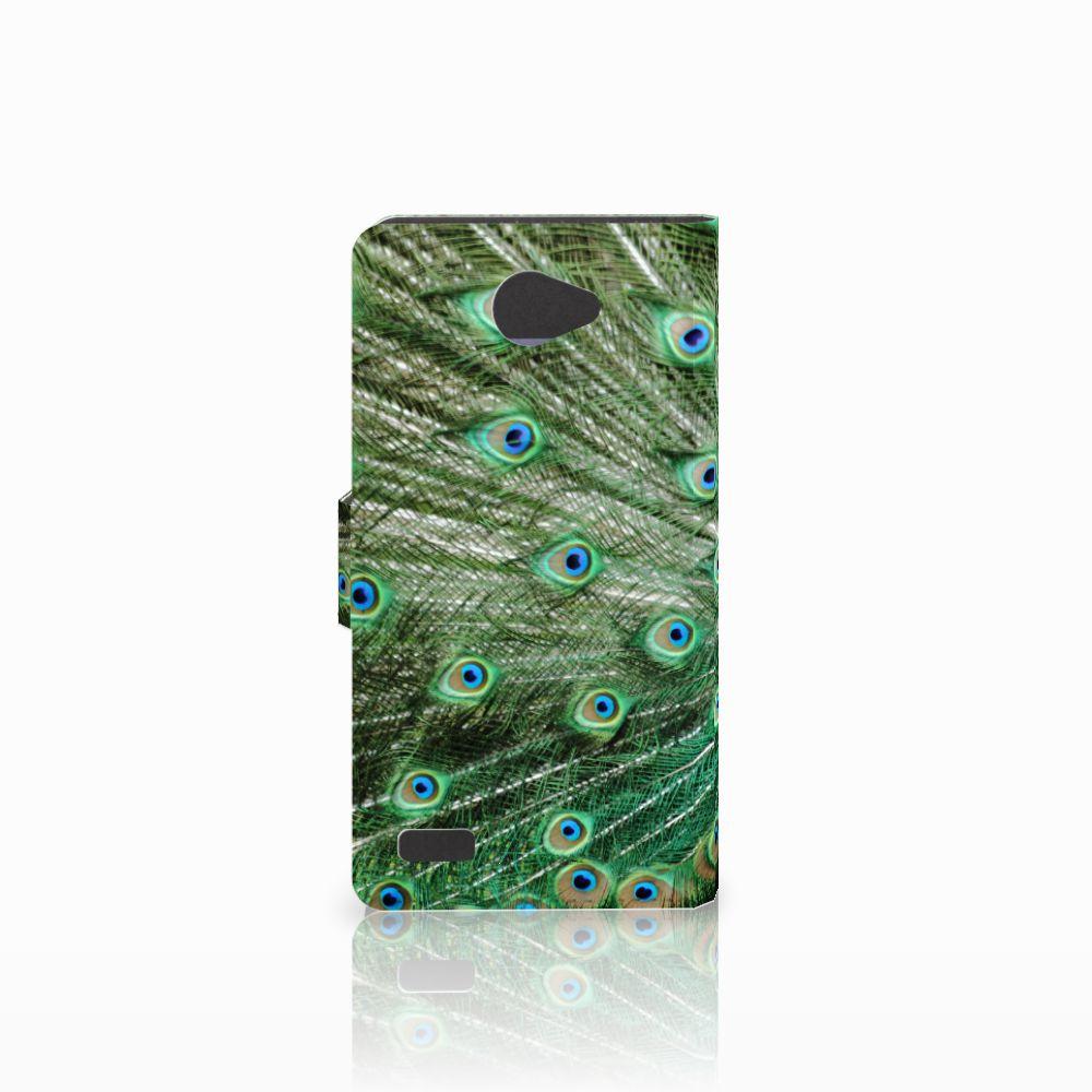 LG Bello 2 Telefoonhoesje met Pasjes Pauw
