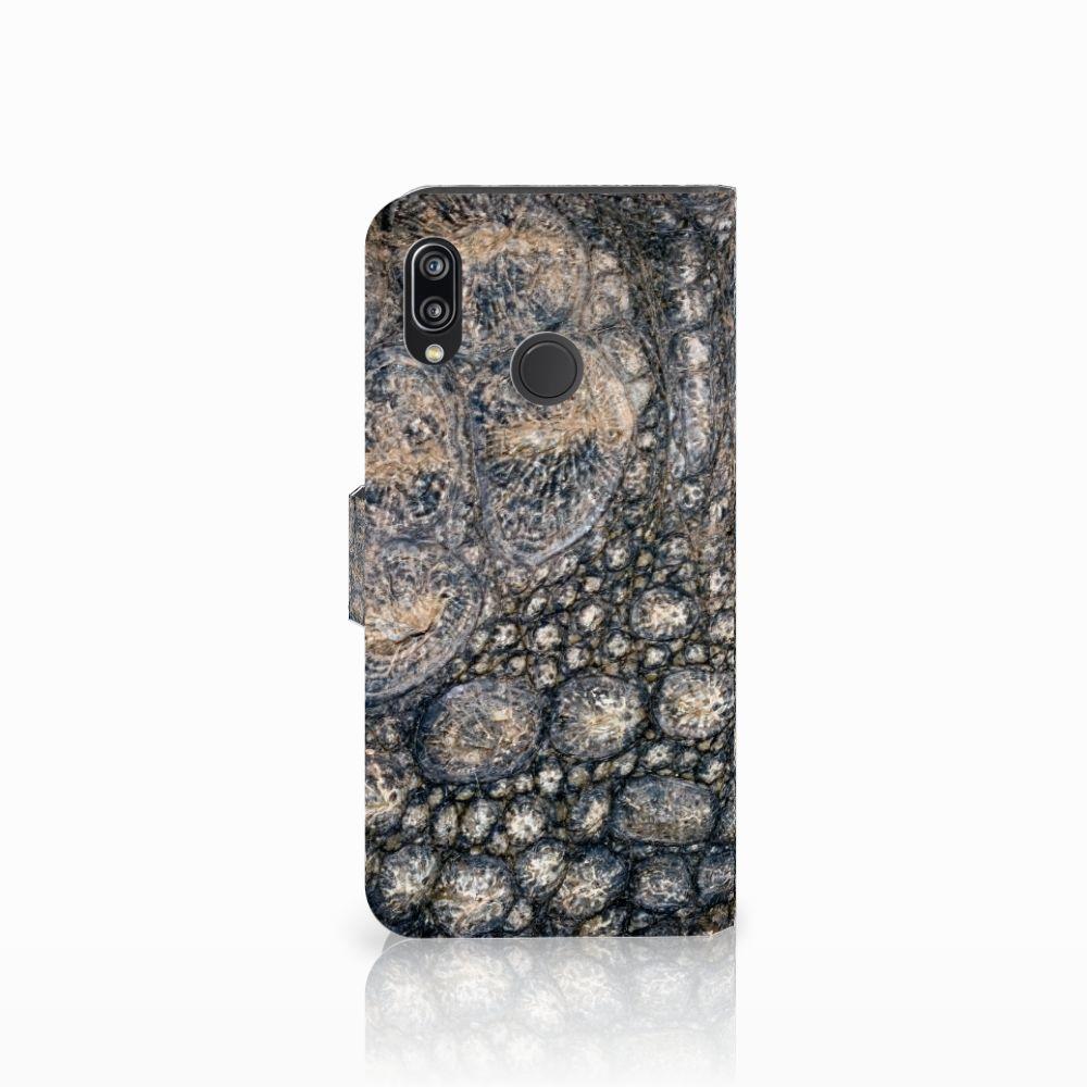Huawei P20 Lite Telefoonhoesje met Pasjes Krokodillenprint