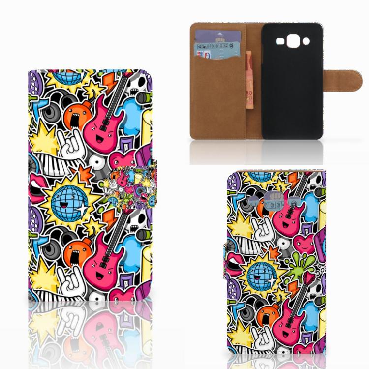 Samsung Galaxy J2 (2015) Wallet Case met Pasjes Punk Rock