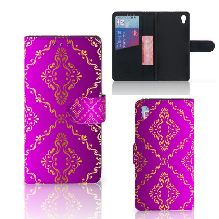 Wallet Case Sony Xperia Z3 Barok Roze
