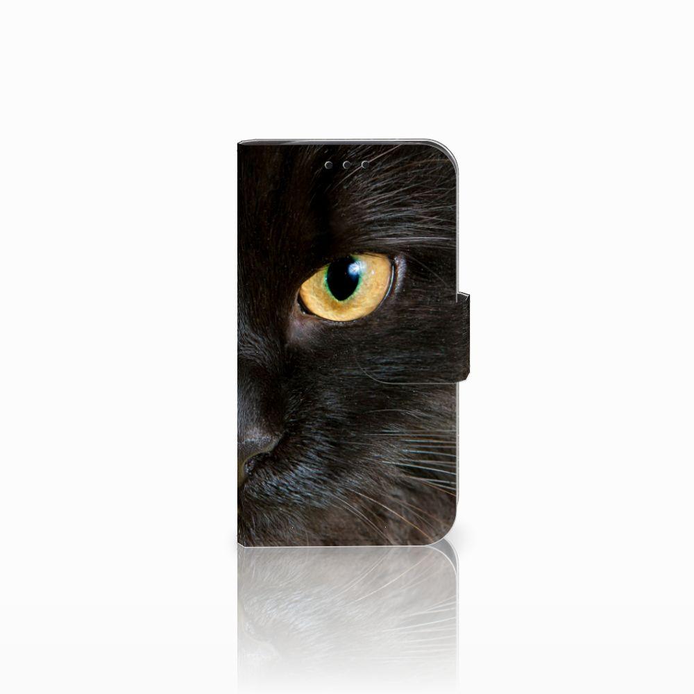 LG L90 Uniek Boekhoesje Zwarte Kat