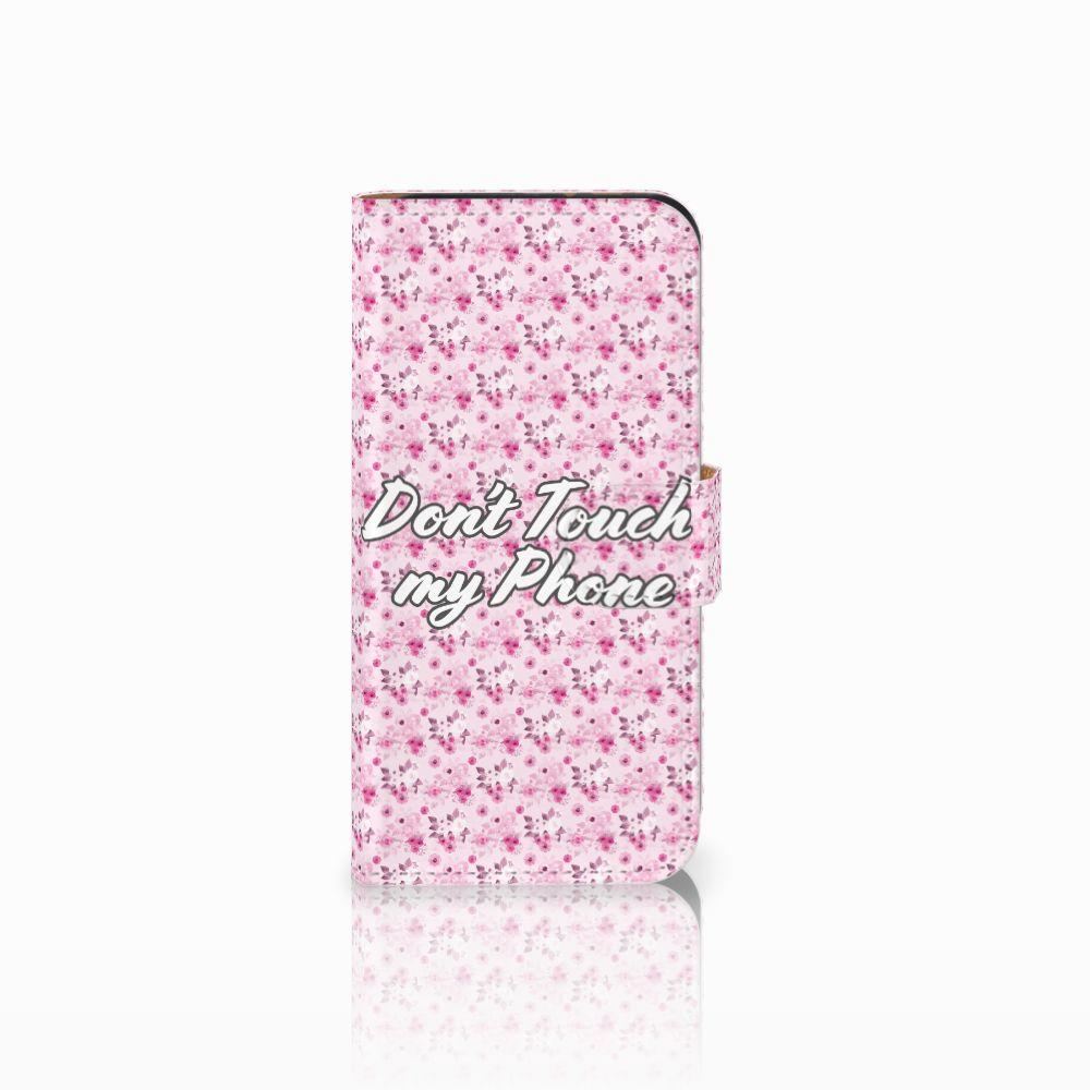 HTC One Mini 2 Uniek Boekhoesje Flowers Pink DTMP