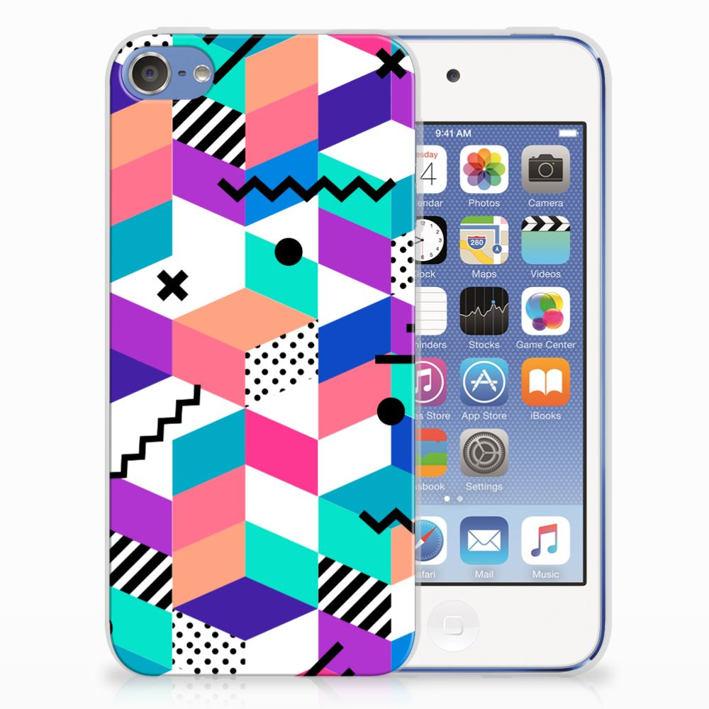 Apple iPod Touch 5 | 6 TPU Hoesje Design Blocks Colorful