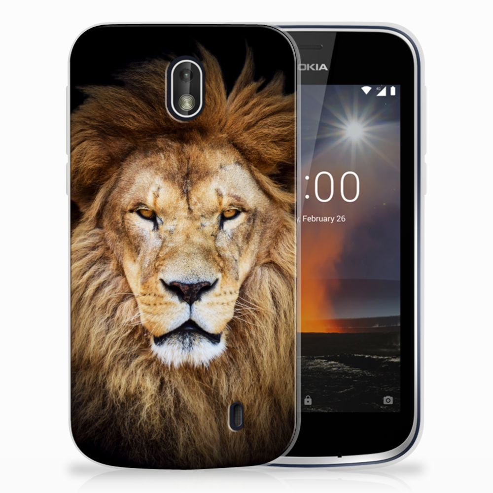 Nokia 1 TPU Hoesje Design Leeuw