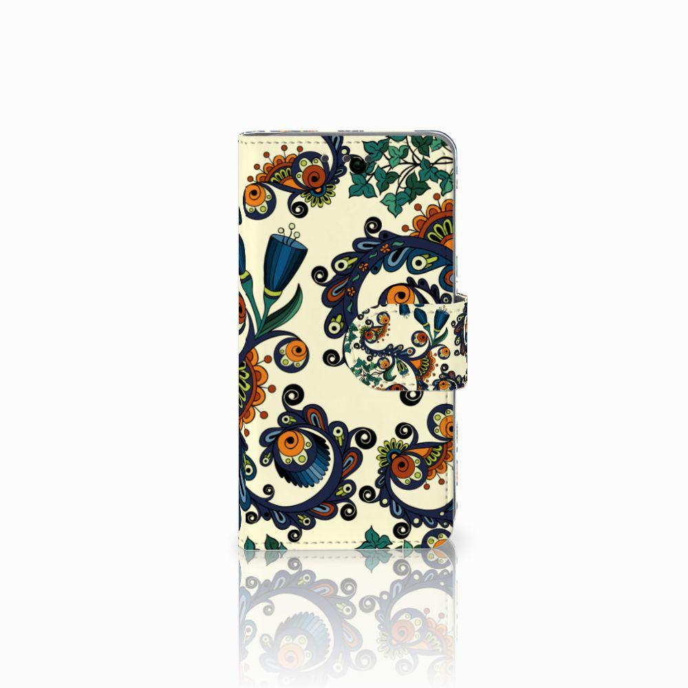 Samsung Galaxy A3 2015 Boekhoesje Design Barok Flower