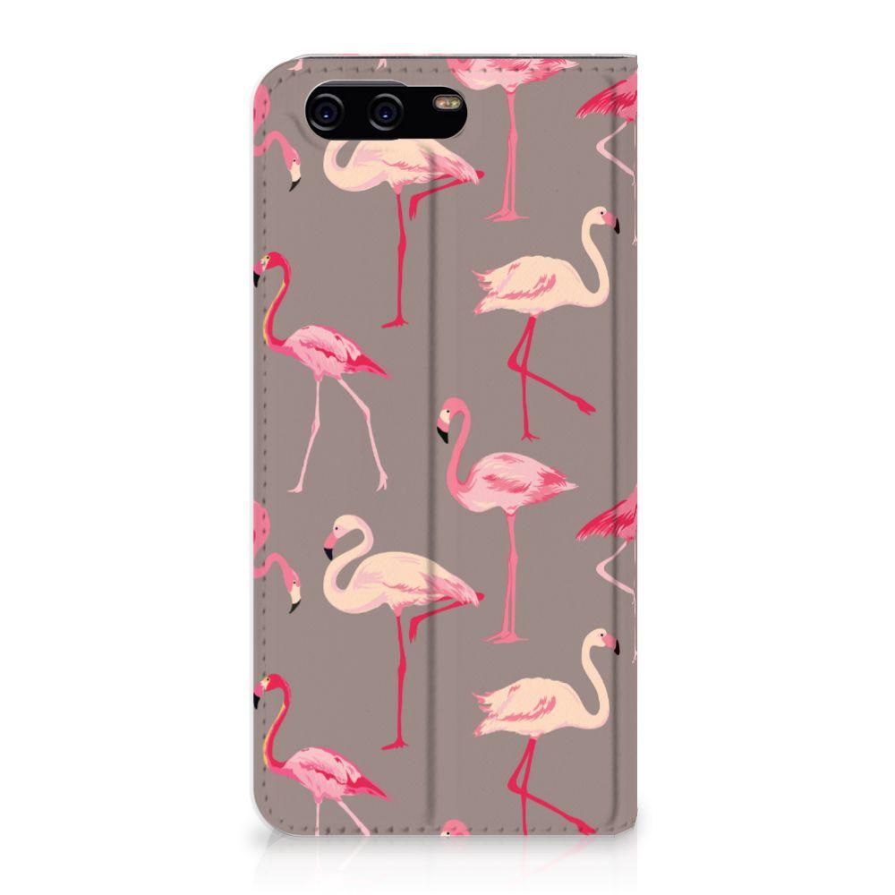Huawei P10 Uniek Standcase Hoesje Flamingo