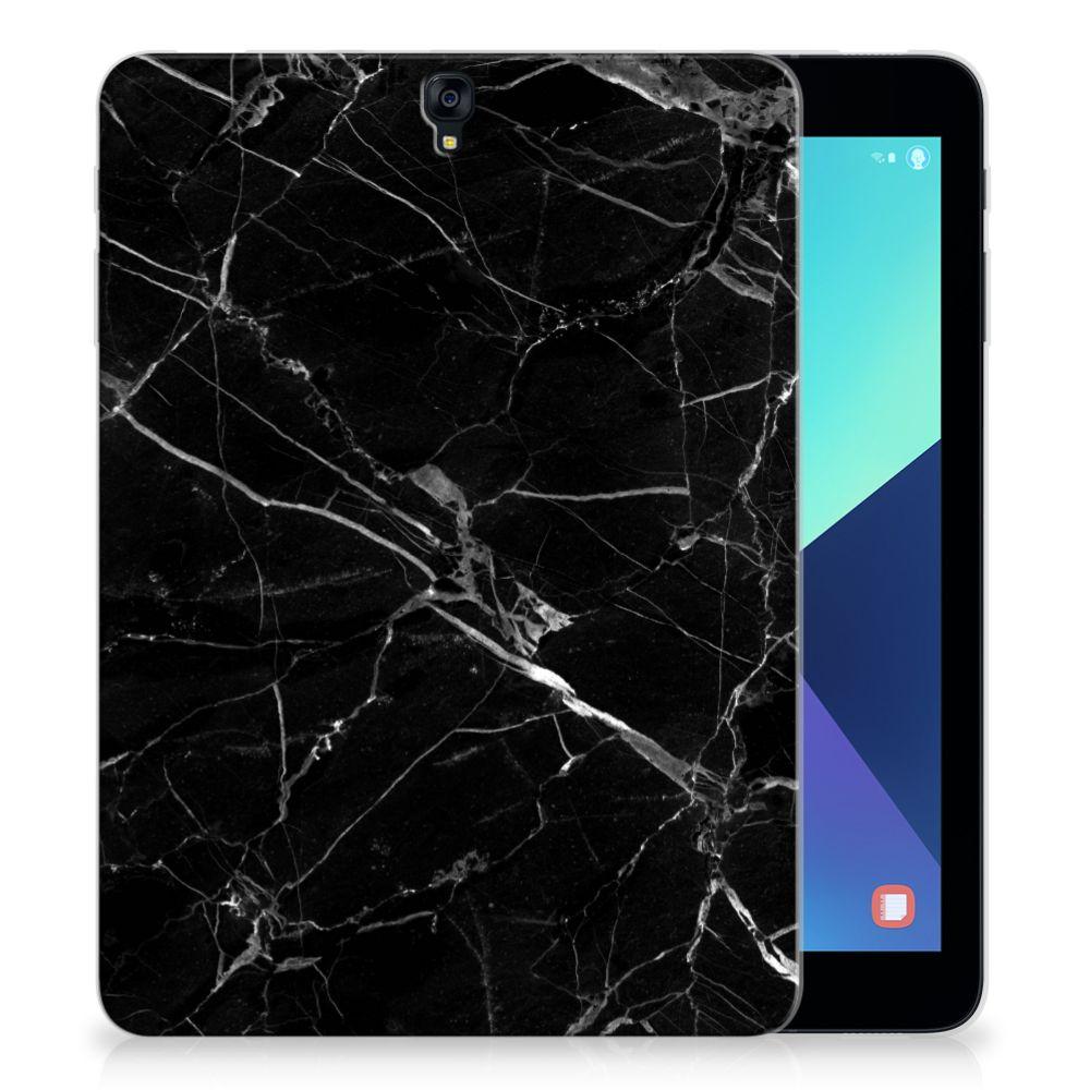 Samsung Galaxy Tab S3 9.7 Uniek Tablethoesje Marmer Zwart
