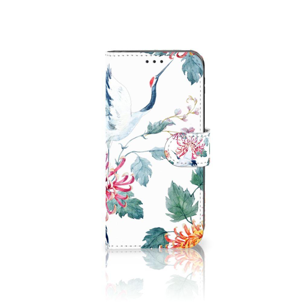 Samsung Galaxy J5 2017 Uniek Boekhoesje Bird Flowers