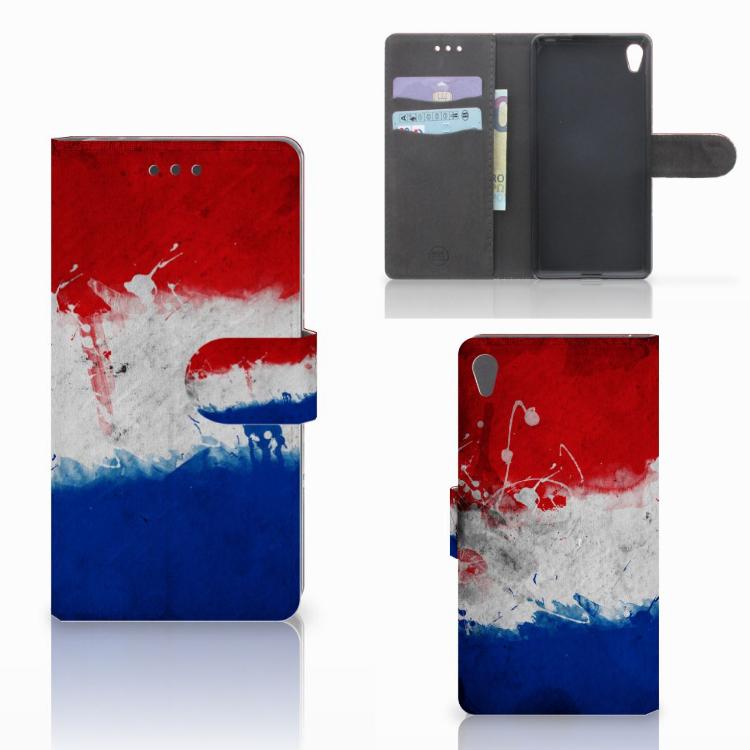 Sony Xperia E5 Bookstyle Case Nederlandse Vlag